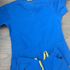 Royal Blue Scrub Set